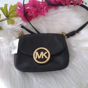 Michael Kors Fulton Pebbled Leather Crossbody Bag
